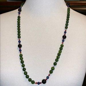 Jewelry - 🌺SALE🌺Vintage polished beaded jade necklace